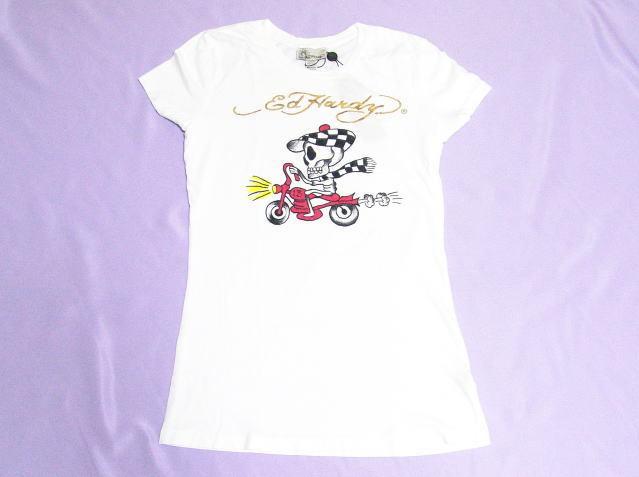 エドハーディー ハワイ限定 レディース スピーディー Tシャツ ホワイト Lサイズ(ゴールドロゴ)